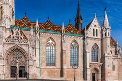БУДАПЕШТ, ВЕНГРИЯ 27,2016 -го февраль, собор Matthias в замке Buda, Будапеште, Венгрии Стоковое Фото
