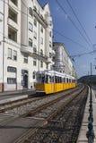 БУДАПЕШТ, ВЕНГРИЯ - 26-ое августа 2017: Трамвай трамвая 2 исторический Стоковые Изображения