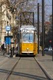 БУДАПЕШТ, ВЕНГРИЯ - ОКОЛО 2016: Европейский трамвай Стоковое фото RF