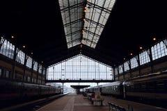 БУДАПЕШТ, ВЕНГРИЯ - СПИЧКА 01, 2018: Главным образом платформа Budape Стоковая Фотография