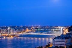 Будапешт на сумраке стоковые изображения