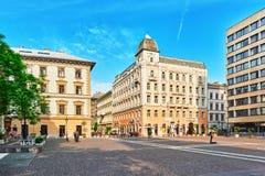 БУДАПЕШТ, HUNGARY-MAY 04,2016: Красивый ландшафт и городской взгляд Стоковое Изображение