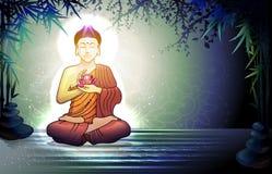 Будда и отражение в воде Стоковые Изображения