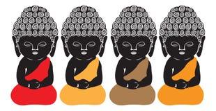 Будда немногая Стоковая Фотография