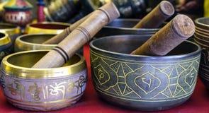 Буддийская ваза шара петь Стоковое фото RF
