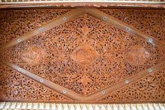 буддийская высекая древесина Стоковая Фотография
