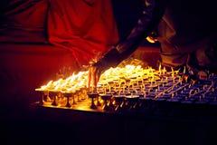 Буддийская масляная лампа культуры Стоковое Фото