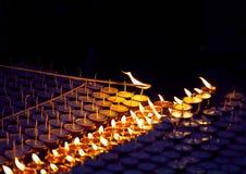 Буддийская масляная лампа культуры Стоковые Изображения