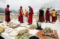 буддийская церемония стоковая фотография rf
