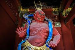 Буддийские и синтоистские статуи ратника, святыня Toshogu, Nikko, префектура Tochigi, Япония стоковое изображение rf
