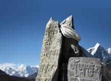 буддийские камни mani стоковое фото rf