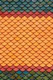 буддийские классицистические плитки виска крыши Стоковая Фотография