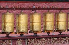 буддийские колеса молитве Стоковые Фотографии RF