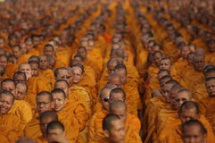 буддийские монахи собраний тайские Стоковые Изображения RF