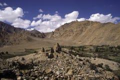 буддийские руины ladakh Индии Стоковое Изображение