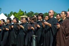 буддийские священники группы Стоковое фото RF