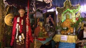 Буддийский алтар выставки видеоматериал