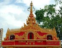 буддийский бирманский висок Стоковое фото RF