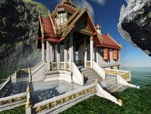 Буддийский висок в переводе гор 3d бесплатная иллюстрация