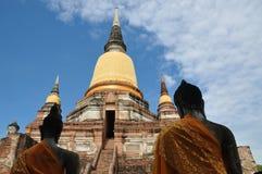 Буддийский висок в Ayutthaya - Таиланде стоковая фотография