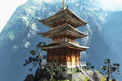 Буддийский висок Дзэн Стоковые Фото