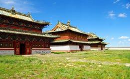 буддийский висок Монголии Стоковая Фотография
