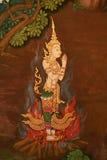 буддийский висок Таиланд настенной росписи Стоковое Изображение RF