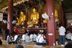 буддийский корейский висок Стоковая Фотография