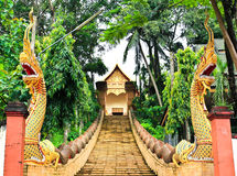 Буддийский названный висок Wat Doi Ngam Muang Стоковое Изображение RF