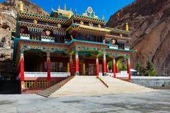 Буддийский скит в Kaza, долина Spiti стоковые изображения rf
