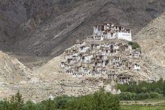 Буддийский скит Chemre в Ladakh, Индия Стоковые Фотографии RF