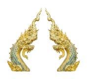 Буддийский naga в виске Таиланда, красивое разделение змея Стоковые Изображения RF