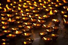 буддийское горение миражирует висок стоковые фото