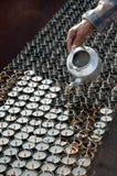 буддийское масло светильников Стоковое фото RF