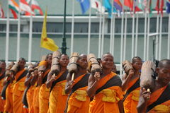 Буддийское паломничество Стоковая Фотография