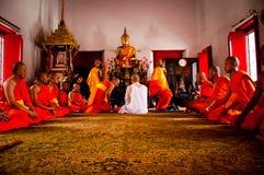 буддийское посвящение церемонии тайское Стоковое Фото