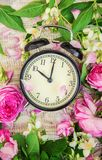 Будильник 10 часов Цветы Стоковое Фото