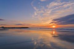 Будить солнце на береге Джерси стоковое фото rf