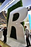 Будочка AGC на выставке 2012, 11-ое апреля 2012, Москва, Россия MosBuild Стоковые Фото