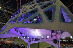 Будочка AGC на выставке 2012, 11-ое апреля 2012, Москва, Россия MosBuild Стоковая Фотография
