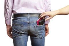 Будучи pickpocketed человек стоковые изображения rf