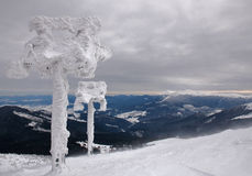 будущая лыжа подъема Стоковые Изображения