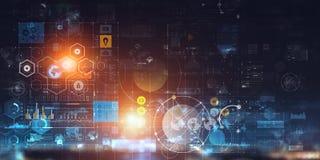 Будущая технология, цифровая предпосылка экрана стоковые фотографии rf