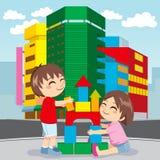 будущее города здания иллюстрация вектора