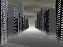 будущее города Стоковое Фото