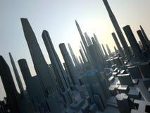 будущее города иллюстрация вектора