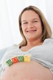 будущее живота младенца ее детеныши мамы пем Стоковые Фотографии RF