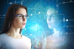 Будущее и концепция технологии Стоковая Фотография