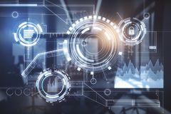 Будущее и концепция финансов Стоковое Изображение