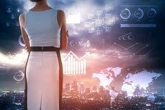 Будущее и концепция финансов стоковые изображения